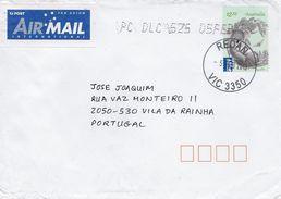 TIMBRES - STAMPS - MARCOPHILIE - LETTRE POUR PORTUGAL AVEC CODE À BARRES - AUSTRALIE - TIMBRE FAUNE KOALA - 2010-... Elizabeth II