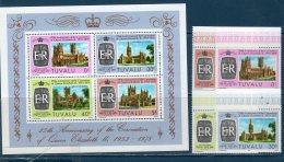 Tulavu 1978  -- 25° Ann. Incoronazione Elisabetta II  ( BF 2 + Yvert 69/72) -- **MNH /VF - Tuvalu