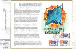 Sur Feuillet CEF , FDC 1975  Strasbourg .    CONSEIL DE L'EUROPE . - FDC