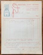 PARIS 1920 LES INDUSTRIES D'ART REUNIES   FATTURA  ORIGINALE D'EPOCA - Francia