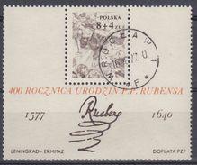 POLONIA 1977 HB-73 USADO - Blocs & Hojas