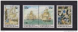 Norfolk Island 1987 Bicentennial Set 4 Incl Joined Pair FU - Norfolk Island