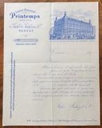 PARIS  1890 GRANDI MAGAZZINI PRINTEMPS JULES TALUZZI & C.  FATTURA  ORIGINALE D'EPOCA - Francia