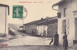 SAMOGNEUX Route De VERDUN    (plan Animé  ) - Francia