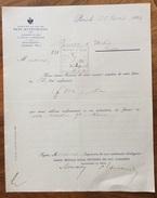 BANCA IMPERIALE DEI PAESI AUSTRIACI BANQUE IMPERIALE ROYALE DES PAYS AUTRICHIENS LETTERA D'EPOCA SUCC. PARIS 1896 - 1900 – 1949