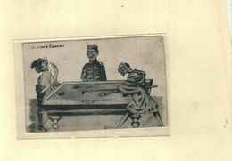 Thème BILLARD - BILLIARDS / Spanish Marocco - Carte Illustrée Par Sanchez - La Primera Carambola - Cartes Postales
