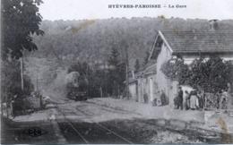 25 - Hyèvres-Paroisse : La Gare . - Otros Municipios