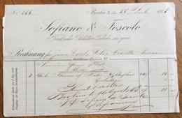 BERLIN BERLINO 1883   SOFIANO & FOSCOLO TURKISCHE BLATTER TABAKE  EN GROS FATTURA ORIGINLE D'EPOCA - Allemagne