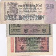 Lot Reichsbanknote 1922 - 1923 - [ 3] 1918-1933 : Weimar Republic