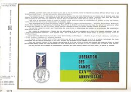 1970 25 ANS LIBERATION DES CAMPS DOCUMENT OFFSET - 2. Weltkrieg