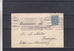 Russie - Lettre De 1914 - Oblit Riga - Exp Vers Tomaszow - 1857-1916 Empire