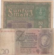 Lot Reichsbanknote 1919 -1929 - [ 3] 1918-1933 : Weimar Republic