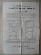Grida Scioglimento Battaglione Estense Nuova Formazione Composizione Modena 1848 - Vecchi Documenti
