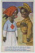 Infirmière Et Militaire Africains. - Humor
