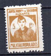 Viñeta Nº 1 Alicante Milicias Populares. - Viñetas De La Guerra Civil