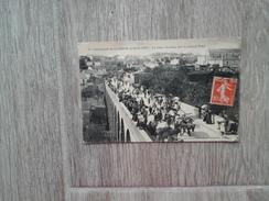 CLISSON CHAR GAULOIS SUR LE GRAND PONT LORS DE LA CAVALCADE EN 1907 PHOTOTYPIE VASSELIER NANTES - Clisson