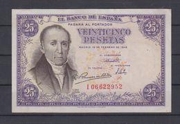 EDIFIL 450a.   25 PTAS 19 DE FEBRERO DE 1946.  FLOREZ ESTRADA - [ 3] 1936-1975 : Regency Of Franco