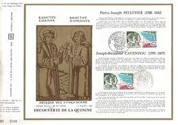 1970 DECOUVERTE DE LA QUININE PAR PELLETIER ET CAVENTOU DOCUMENT OFFSET - Medizin