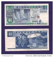 SINGAPORE , Banknote USED VF, 1 Dollar - Singapore