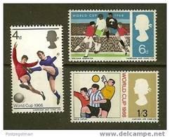 UK 1966 MNH Stamp(s) Worldcup Football 422-424 #5888 - 1952-.... (Elizabeth II)