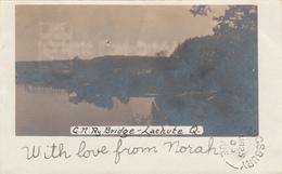 Real Photo - Lachute Québec Canada - Railway Bridge - Mailed To Kingsbury Québec In 1905 - 2 Scans - Quebec