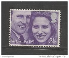 UNITED KINGDOM 1973 Mint Never Used Stamp(s)  Princess Ann+Mark Phillips 1 Value Only Nr. 637 - 1952-.... (Elizabeth II)