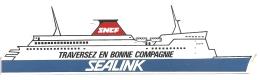 Autocollant / Sticker / Aufkleber - Sealink - SNCF : Traversez En Bonne Compagnie - [ferry] - Aufkleber