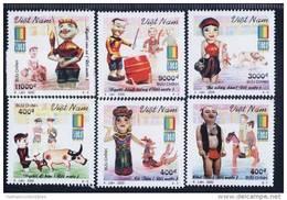 Vietnam Viet Nam MNH Perf Stamps 2000 : Vietnamese Water-puppetry / Buffalo / Fish/ Music / Fisherman (Ms829) - Viêt-Nam