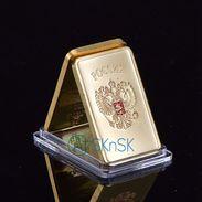 SOVIET RUSSIAN USSR CCCP GOLD LAYERED INGOT BAR Imitation - Other
