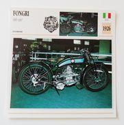 Fiche Technique MOTO Italie 1926 Fongri 600 Cm3 - Moto