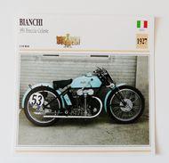 Fiche Technique MOTO Italie 1927 Bianchi Frecchia Celeste - Motos