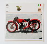 Fiche Technique MOTO Italie 1929 GD 175 Cm - Motor Bikes