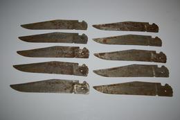 Lot De 18 Lames De Couteaux - Armas Blancas