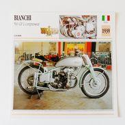 Fiche Technique MOTO Italie 1939 Bianchi 500 GP à Compresseur - Motor Bikes