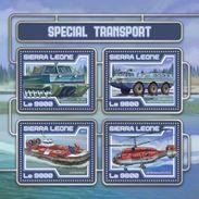 SIERRA LEONE 2017 SHEET SPECIAL TRANSPORT RESCUE TRANSPORTS SPECIAUX TRANSPORTES ESPECIAIS ESPECIALES Srl17417a - Sierra Leone (1961-...)