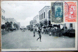 DJIBOUTI RUE D'ABYSSINIE TIMBRES ET CACHET - Djibouti