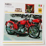 Fiche Technique MOTO Italie 1949 Parilla 250 Balbiero Course - Moto