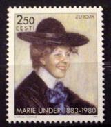 ESTONIA # 306.  2.50k, Europa - Marie Under, Poet.  MNH (**) - Estonia