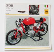 Fiche Technique MOTO Italie 1955 Ducati 125 Gran Sport Mariana - Motor Bikes