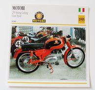 Fiche Technique MOTO Italie 1955 Motobi 250 Spring Lasting Gran Sport - Motor Bikes