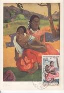 PA 30 (50° Anniversaire De La Mort De Gauguin) Premier Jour Sur Carte Maximum. Papeete 27/4/60 - Timbres