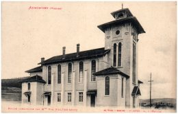 88 AUMONTZEY - Eglise Construite Mar Mme Vve Walter-Seitz (Recto/Verso) - Other Municipalities