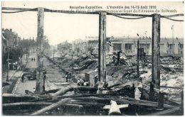 BRUXELLES -Exposition - L'incendie Des 14-15 Aout 1910 - Les Ruines Du Palais De L'Alimentation   (Recto/Verso) - Expositions Universelles