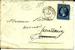 Enveloppe 20c ?? Pour Auxerre N°175 - 1863-1870 Napoleon III With Laurels