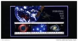 AUSTRALIA - 1992  INTERNATIONAL  SPACE YEAR  MS  MINT NH - Blocchi & Foglietti