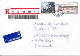 Sweden Registered Cover Sent To Denmark Astorp 2-12-1994 - Sweden