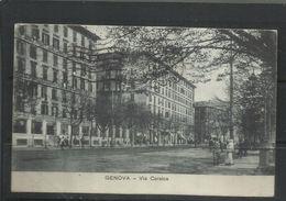 ITALIA REGNO ITALY KINGDOM 1919 CARTOLINA POSTACARD GENOVA VIA CORSICA - Genova