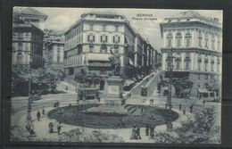 ITALIA REGNO ITALY KINGDOM CARTOLINA POSTACARD GENOVA PIAZZA CORVETTO NUOVA UNUSED - Genova