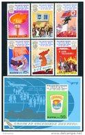 Korea 1977, SC #1625-31, 6V+S/S, International Seminar On The Juche Idea - Korea, North