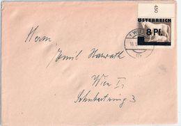 Österreich Behelfsausgabe WIEN Einfachbrief Schwärzung Braunes Band 16.6.1945 Gelaufen - 1945-.... 2. Republik